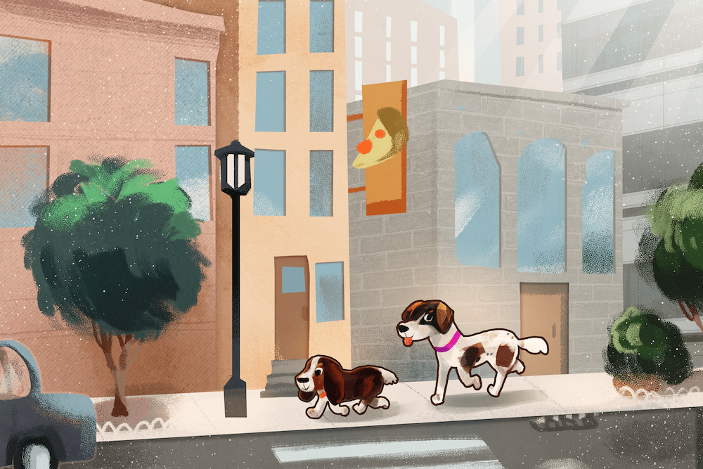 Matias Dogs in the City by Louie Zong