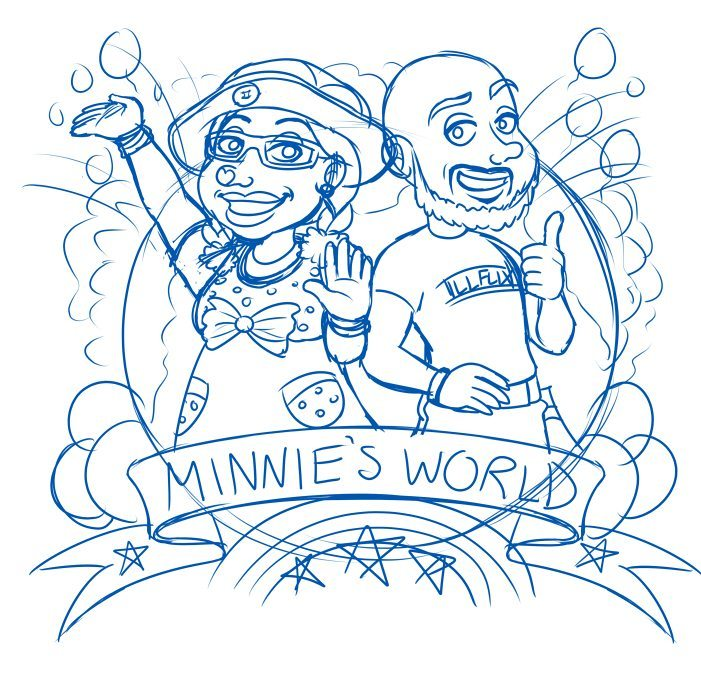 Minnie and Illflo Progress Draft by Lukael