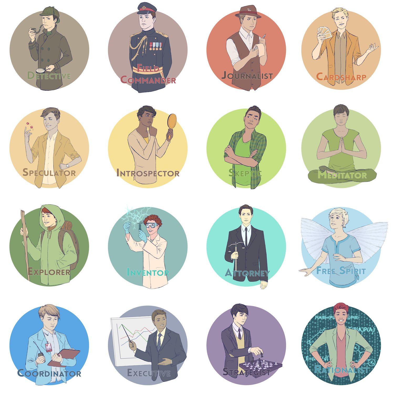 Personality Profile Portraits by Crespella via ArtCorgi