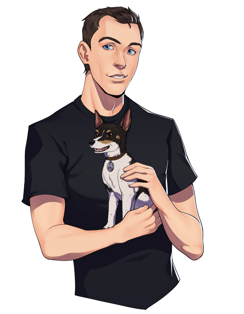 Portrait of Nicholas and his Dog by Torri
