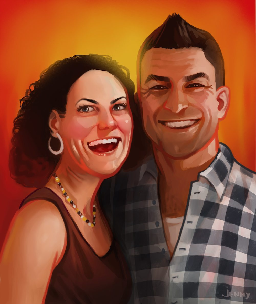 Portrait of The Crosley Couple by Jenny Stout