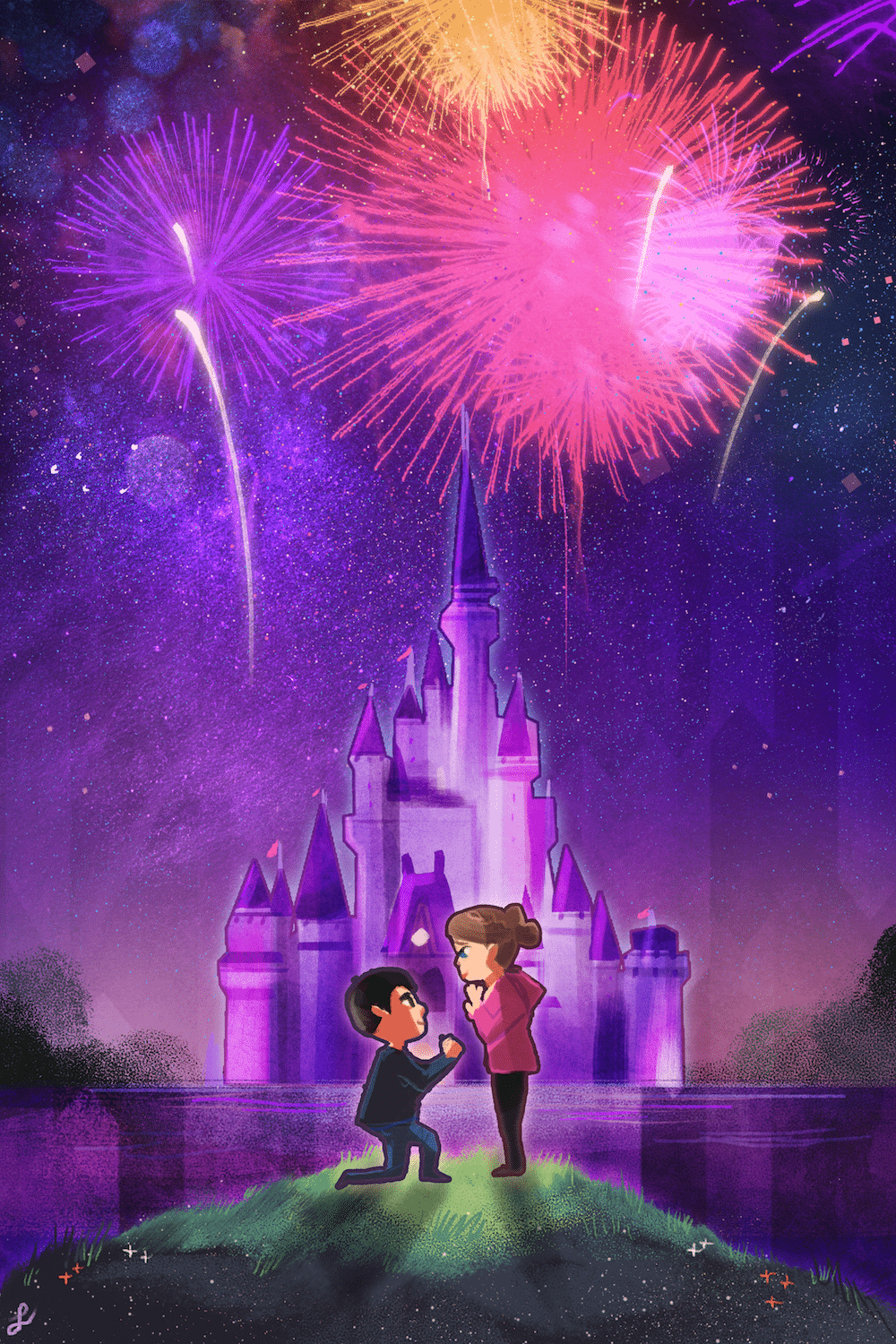 Proposal at the Castle by Louie Zong