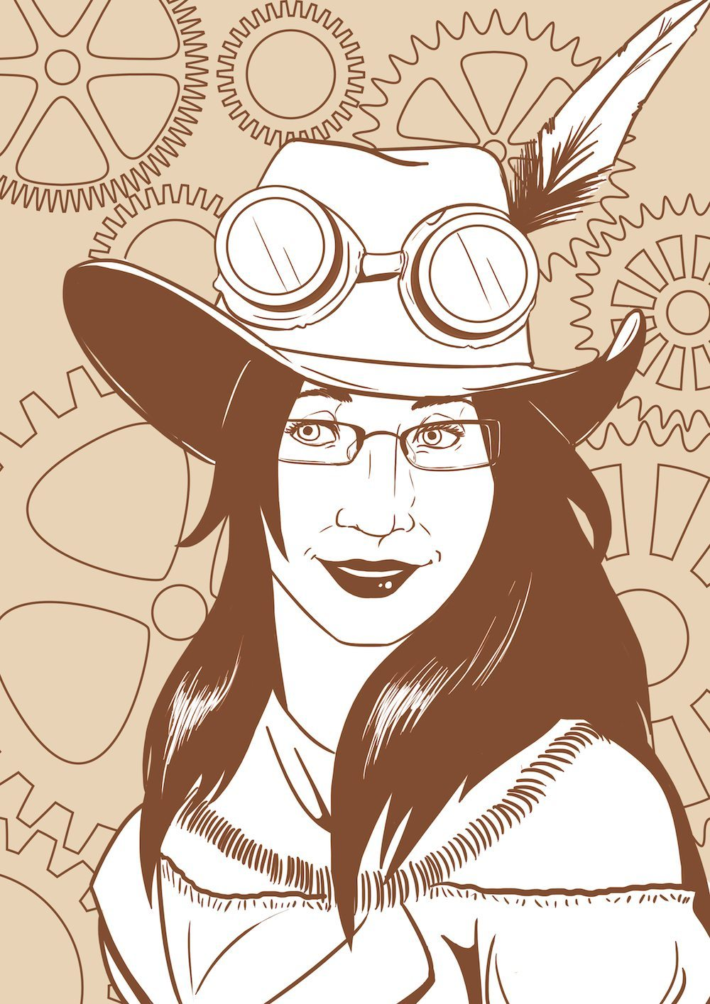 Steampunk Portrait of Savannah by Blacksmiley