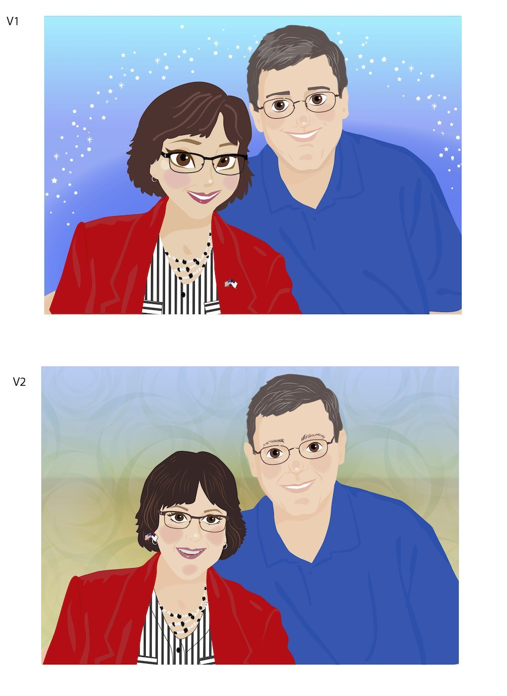Susan and Keith WIP by Tina Cash-Walsh