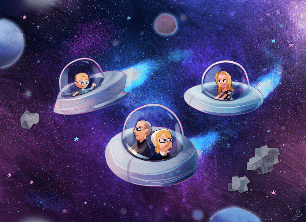 The Low Family in Space by Louie Zong