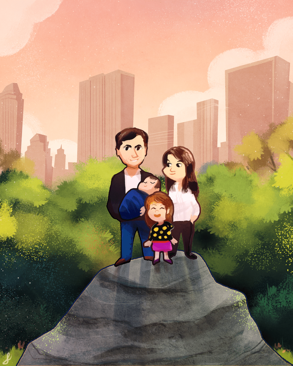 The NYC Family by Gabriel