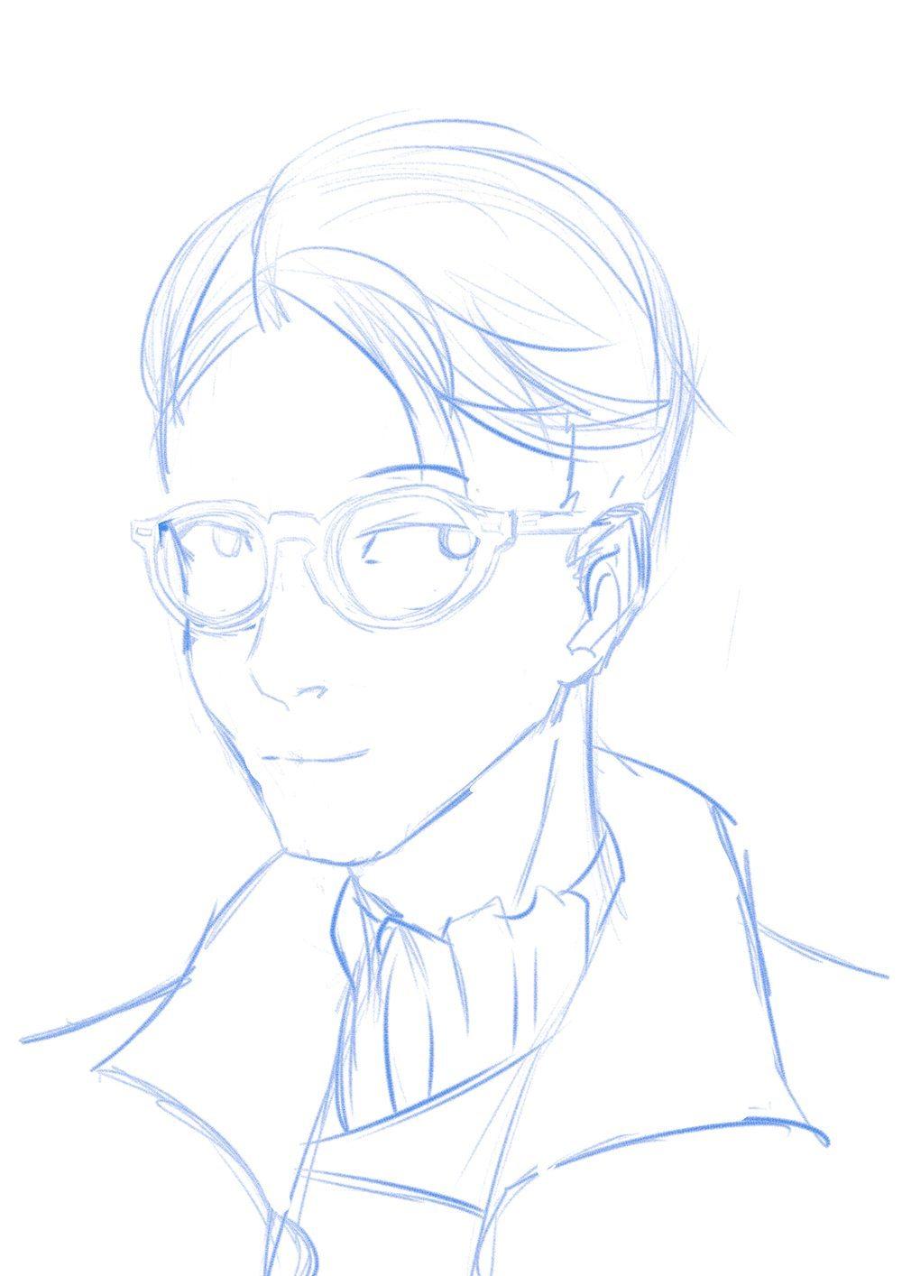 Updated Portrait Draft of Gretar by Jahvin Baxter