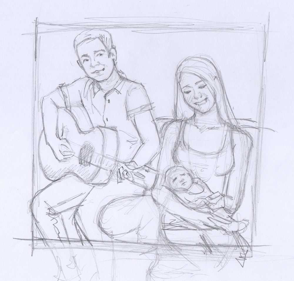 WIP Draft of The Happy Family by Frasefo