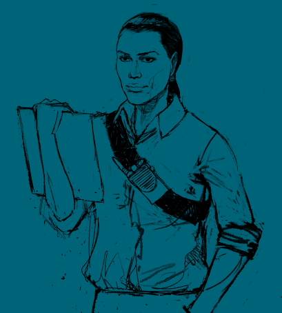 WIP Illustration of Coordinator by Pietro Gugliemi