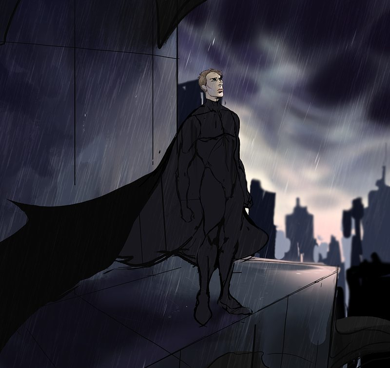 WIP Illustration of Gotham's New Batman by railgunner