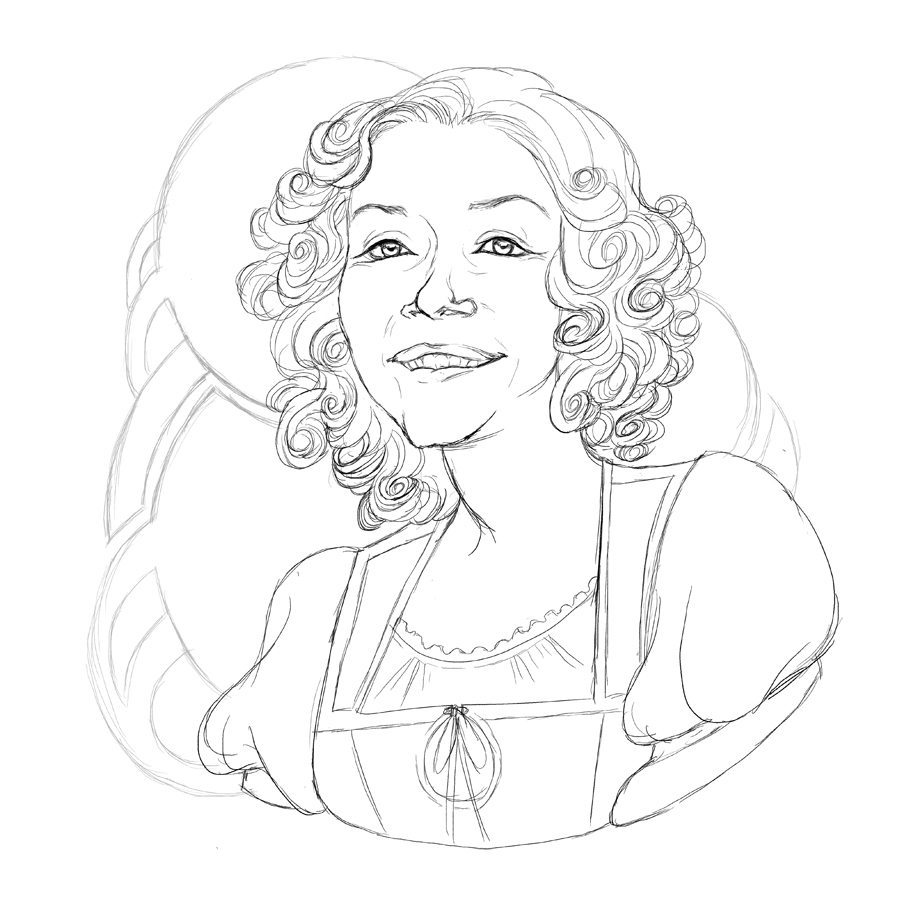 WIP Portrait of Mary by Dumonchelle Draws