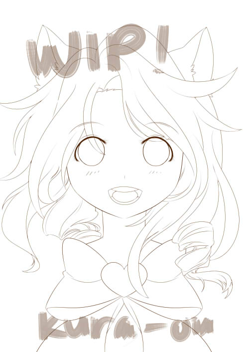 WIP Portrait of Sara by Kura-Ou