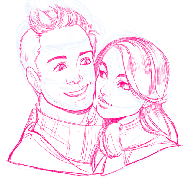 WIP Portrait of a Couple by Torri