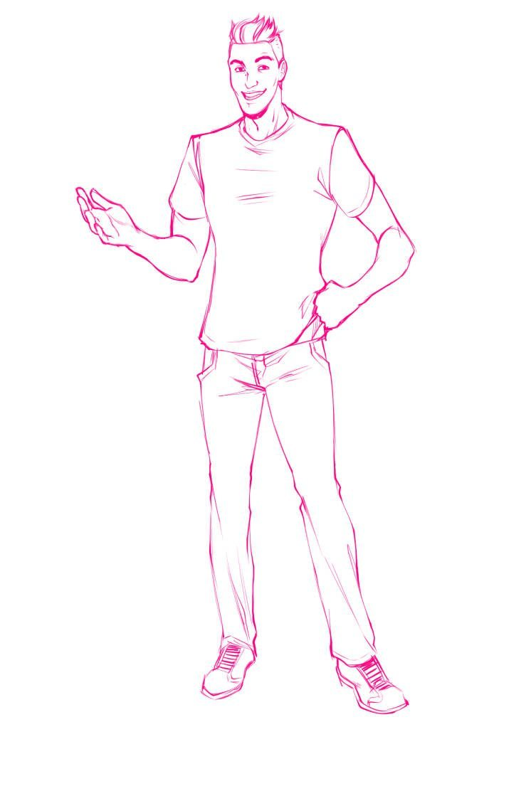 WIP of Gabriele Carboni in Normal Clothes by Torri