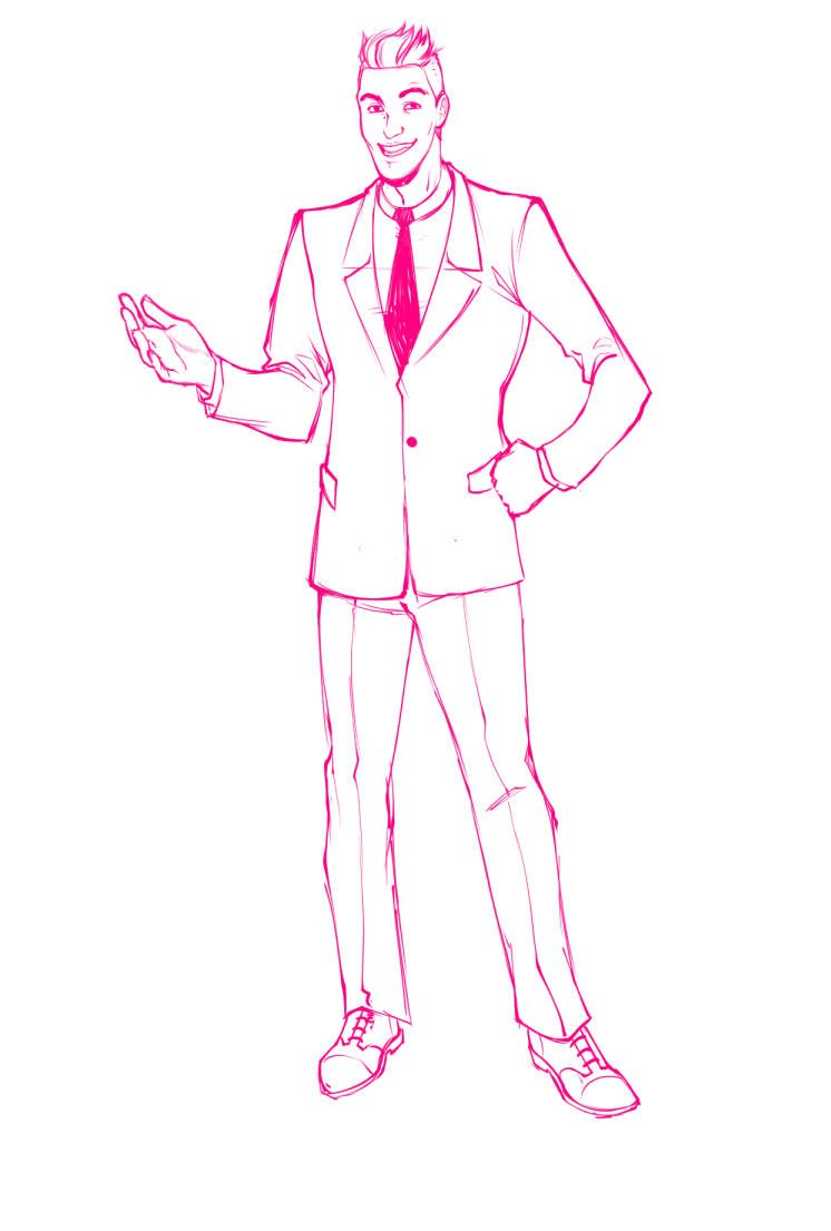 WIP of Gabriele Carboni in a suit by Torri