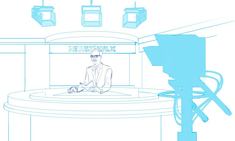 WIP of Kirk in the Newsroom by KrisBrannock