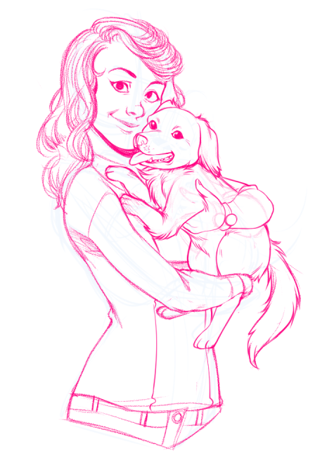 WIP of Martha and Krusty by Torri