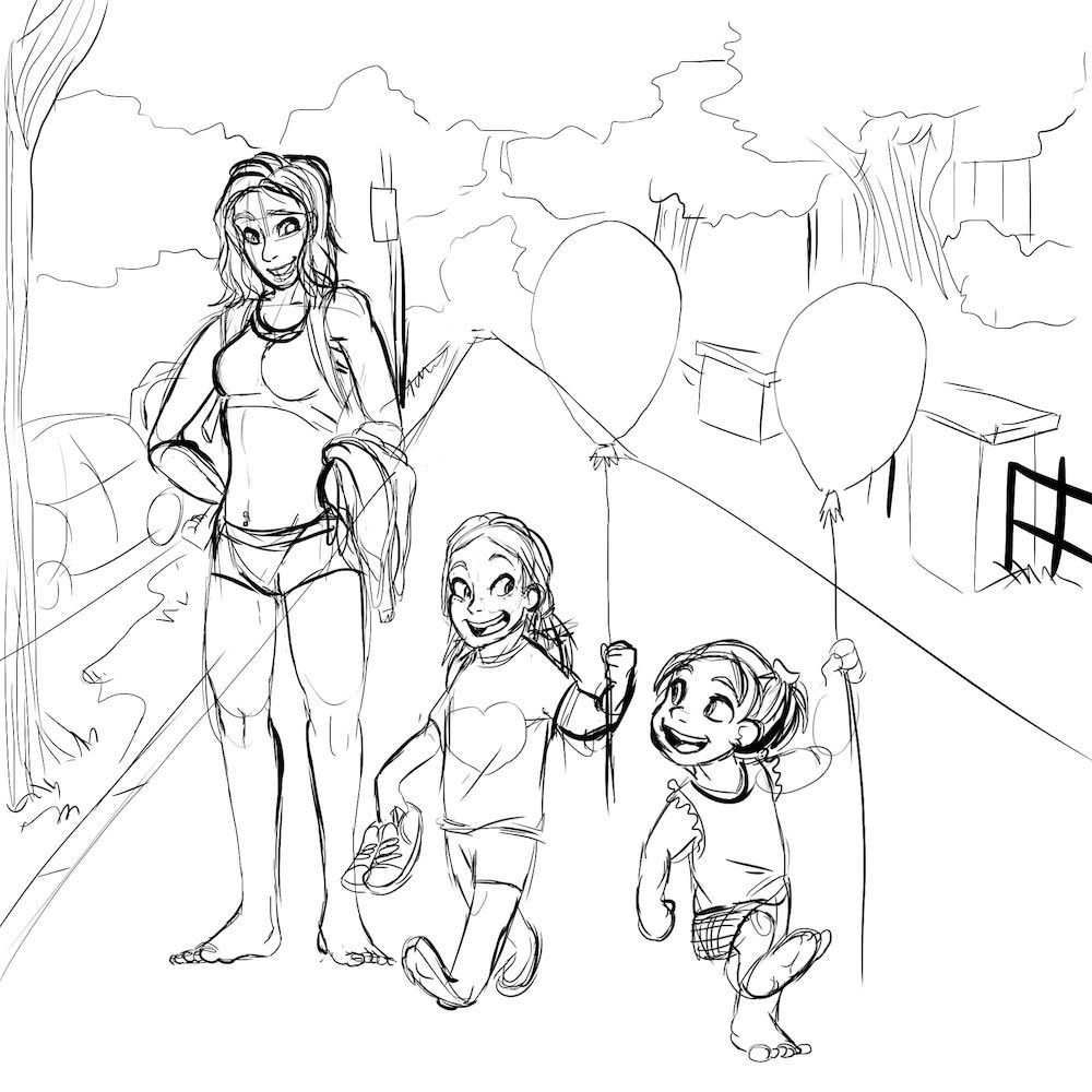 WIP of The Benitez Family by Denitsa Trandeva