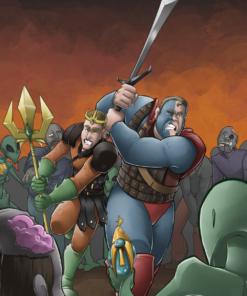 Brothers vs Aliens and Zombies by Silvadoray via ArtCorgi