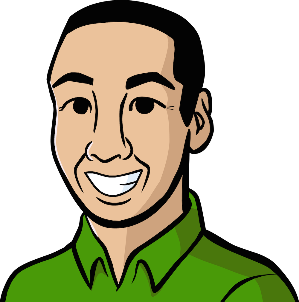 Cartoon Portrait of Tim Fong by Alyssa Erin