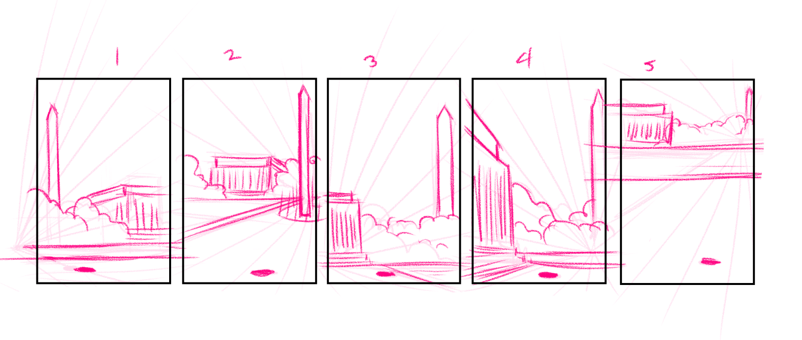 DC Monument Sketches by Torri