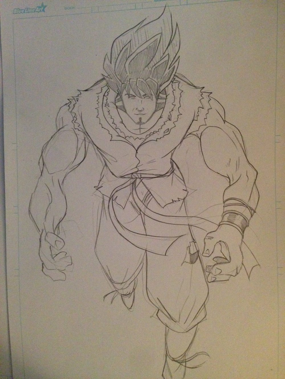 Dragon Ball Z Inspired Portrait Draft by Clay Graham