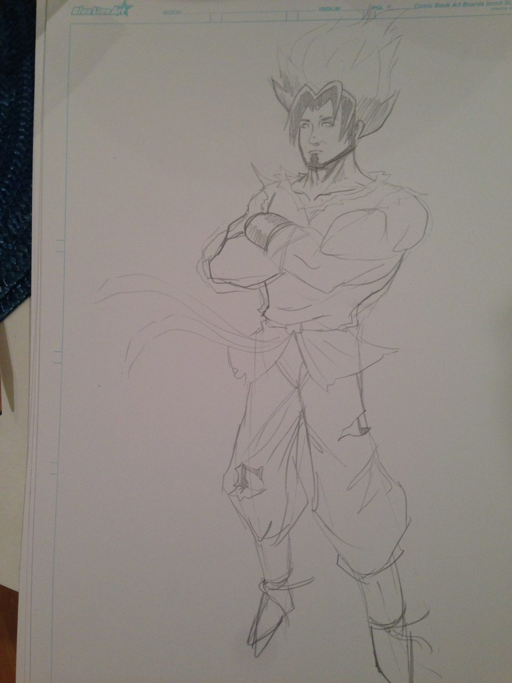 Dragon Ball Z Sergio WIP by Clay Graham