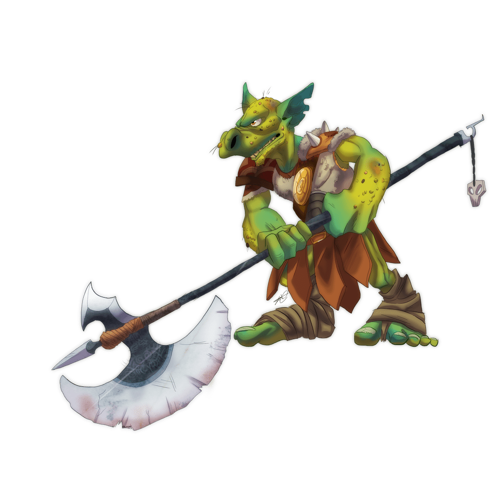Goblin Gladiator Character Illustration by Denitsa Trandeva via ArtCorgi