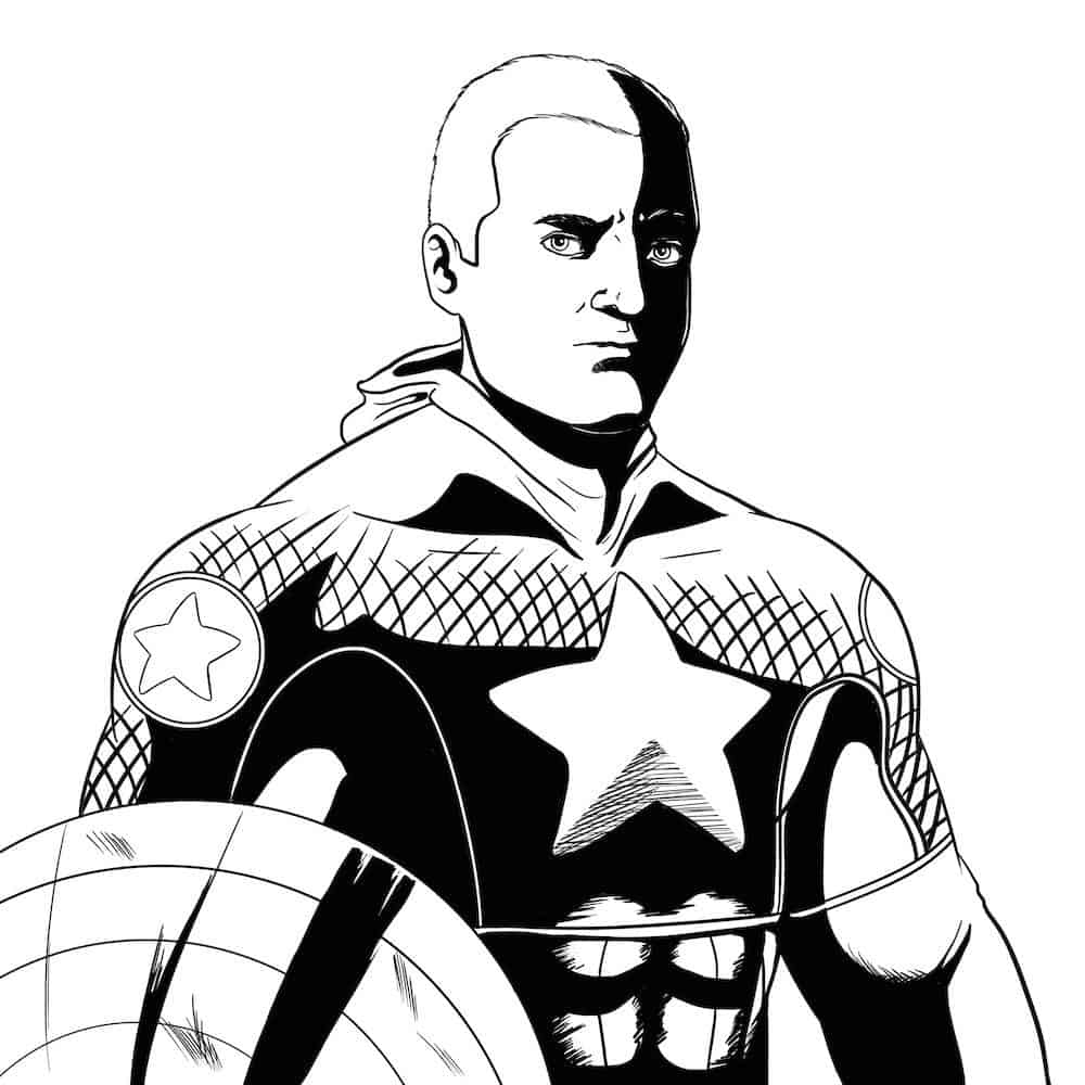 Matthew Larson as Captain America by Blackmiley via ArtCorgi