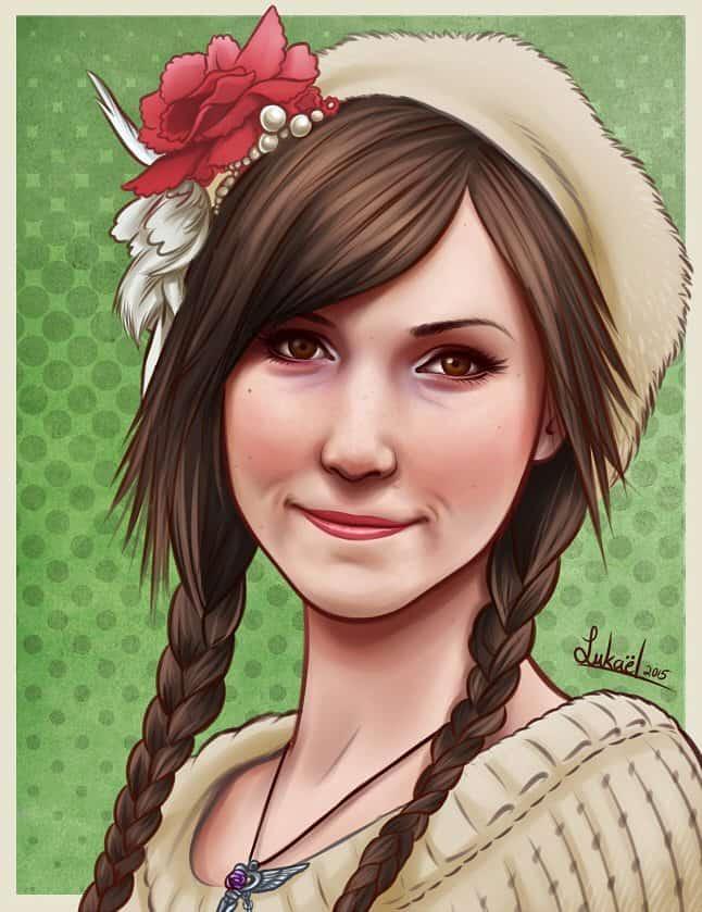 Portrait Sample by Lukael