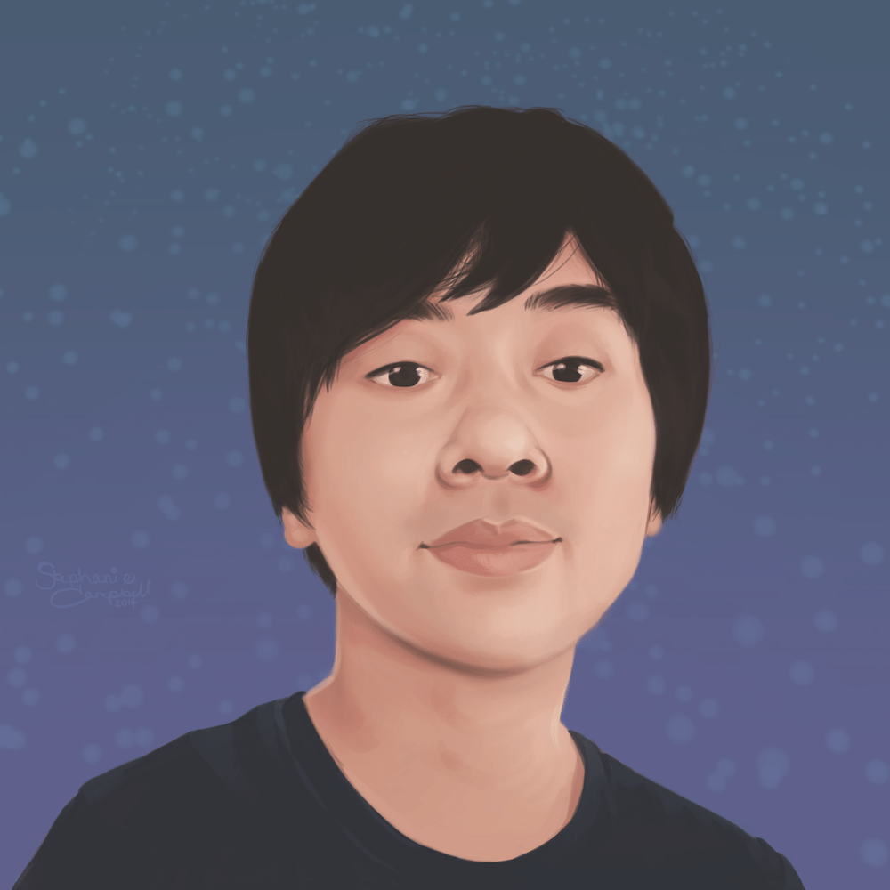 Portrait of Tomohiro-san by Stephanie Campbell