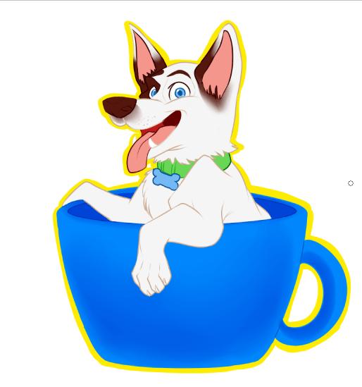 Puppy in a Mug Logo Design by Melanie Duquesne