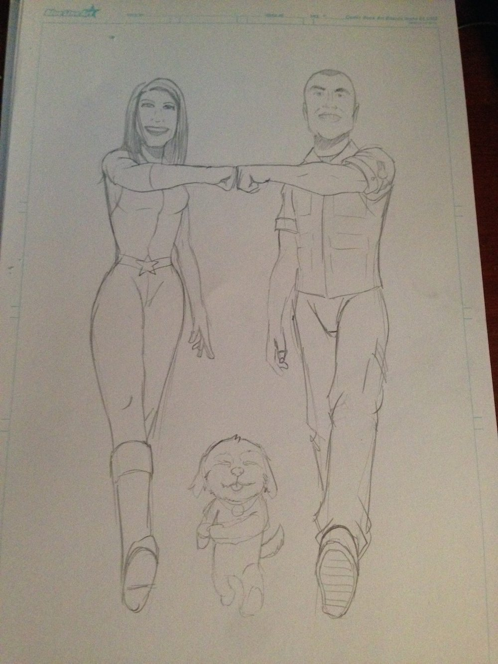 Ryan and Cassi Sketch by Clay Graham
