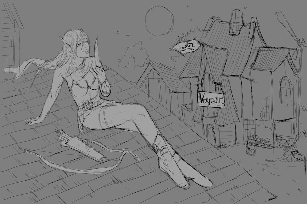 Second Blood Elf Sketch by PhuThieu