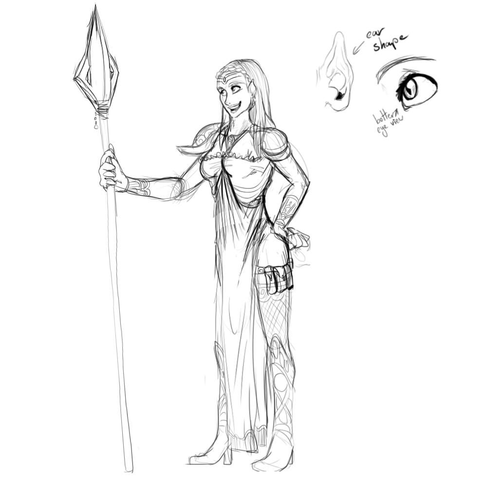 Sidhe Sketch by Denitsa Trandeva