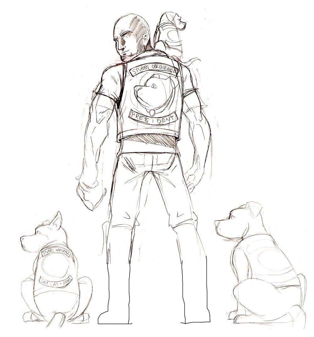 Stubbs Obedience Layout Sketch by Clay Graham via ArtCorgi