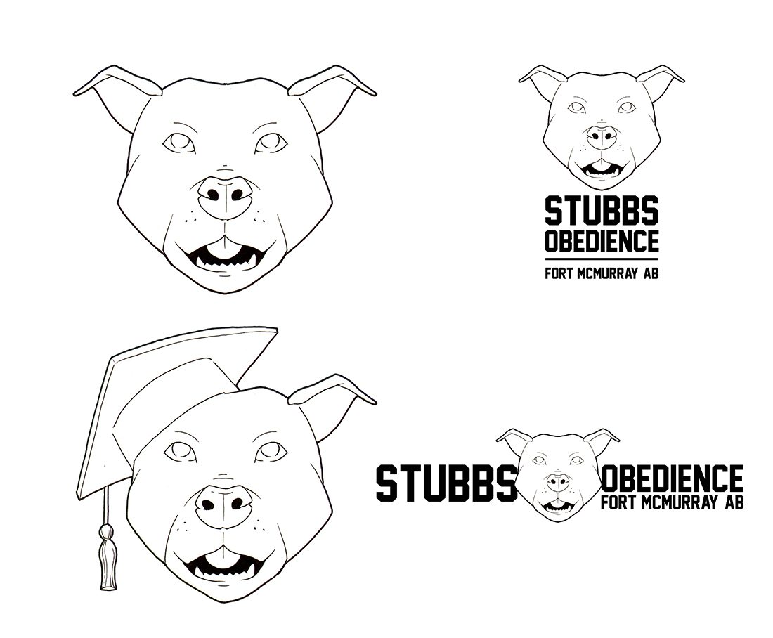 Stubbs Obedience Logo Drafts by Clay Graham
