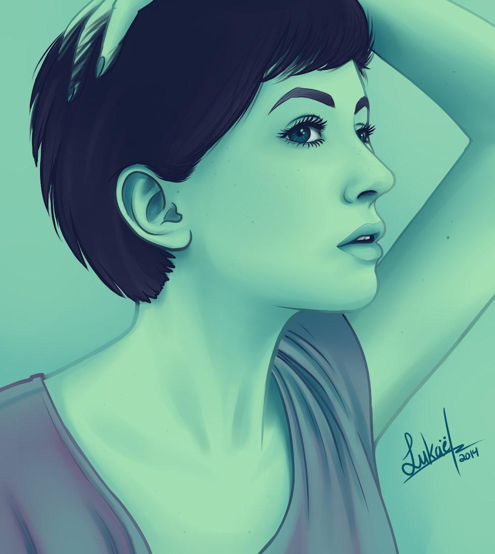 Stylized Portrait of Lulu by Lukael