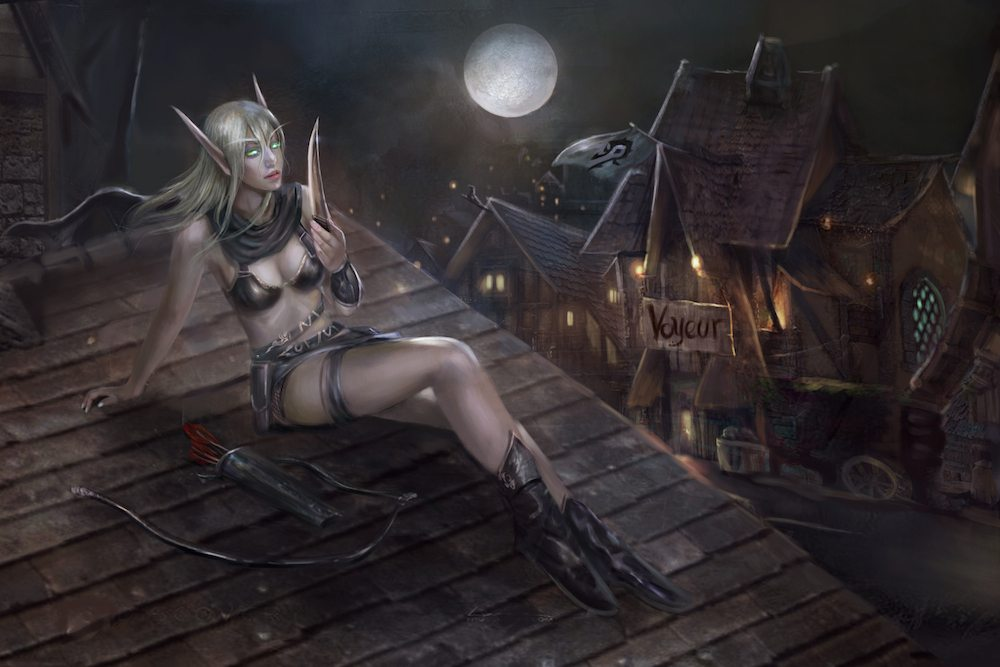 The Blood Elf on the Roof by PhuThieu of ArtCorgi