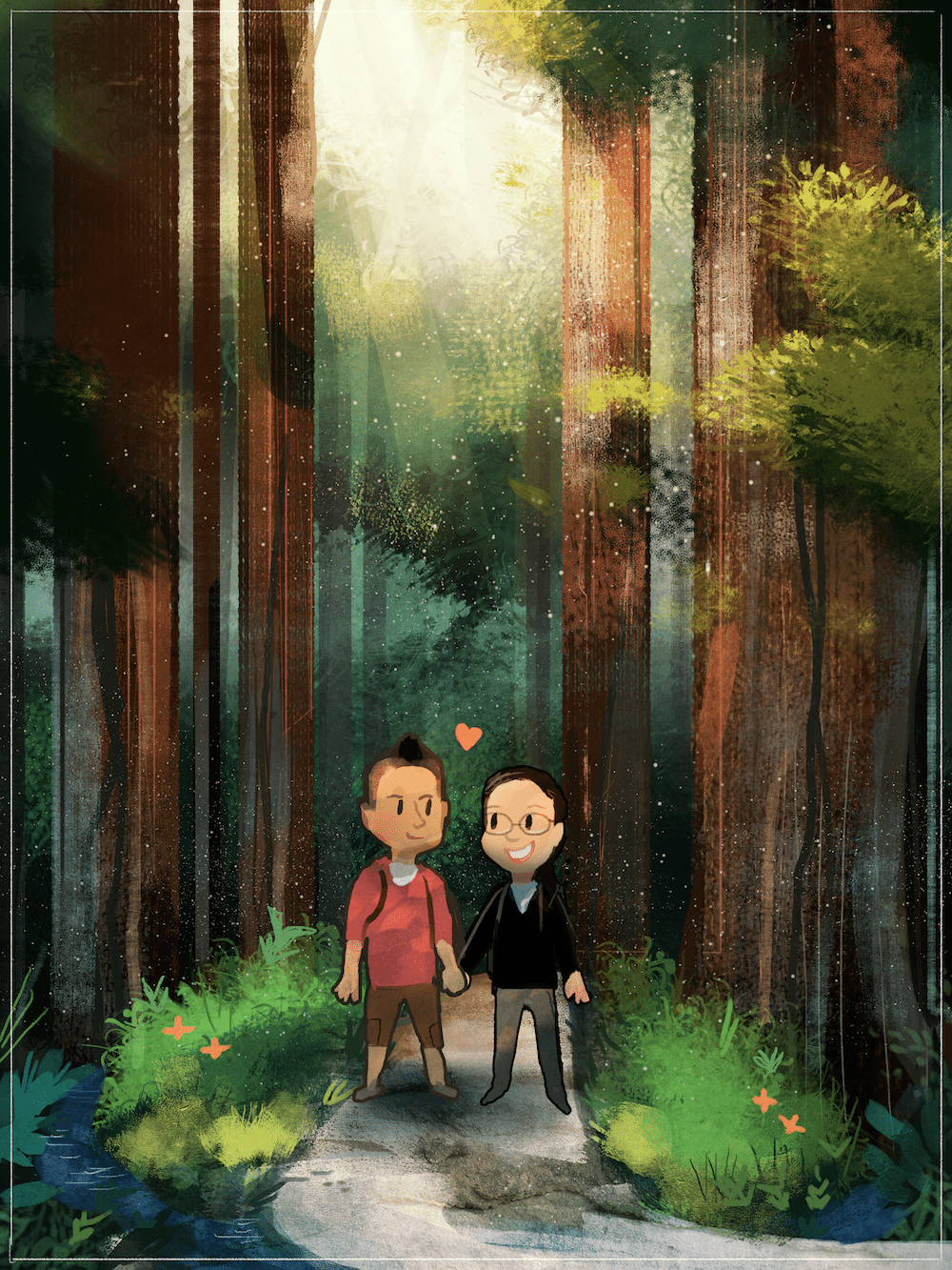 The Muir Woods Proposal by Louie Zong via ArtCorgi