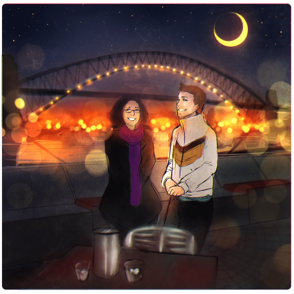 The Night at the Harbor - WIP by Lucia Garcia