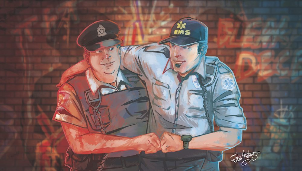 The Paramedic and the Policeman by Omniopticon via ArtCorgi