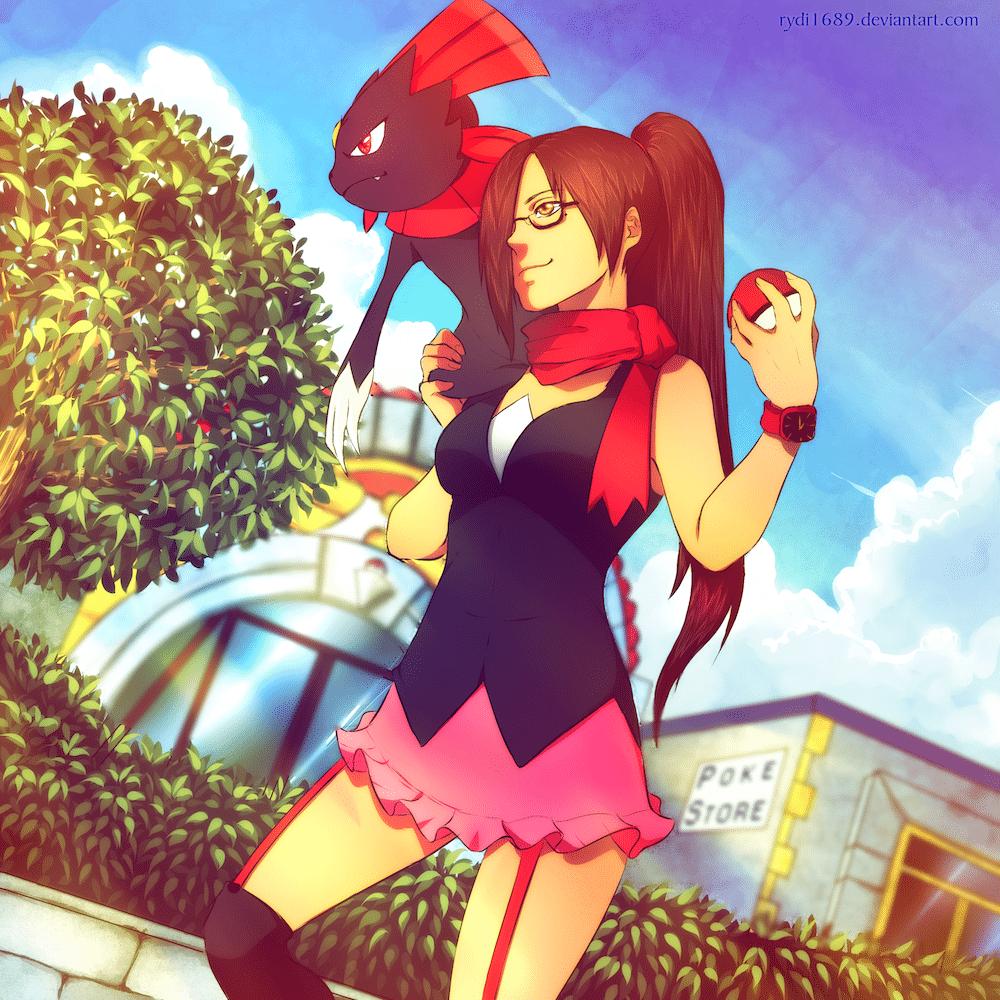 The Pokemon Trainer by Lucia Garcia via ArtCorgi