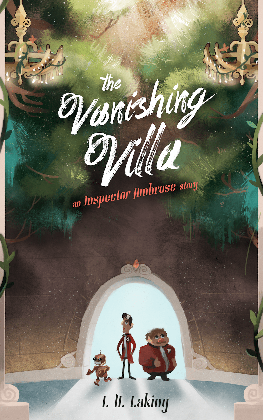 The Vanishing Villa book cover art by Louie Zong via ArtCorgi