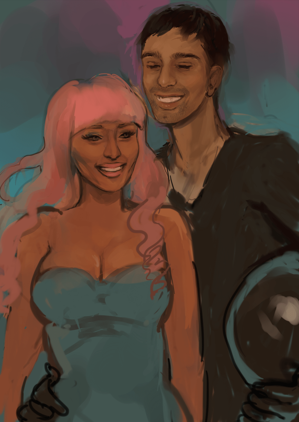 WIP Draft of Sunil and Nicki in Space by C. Day