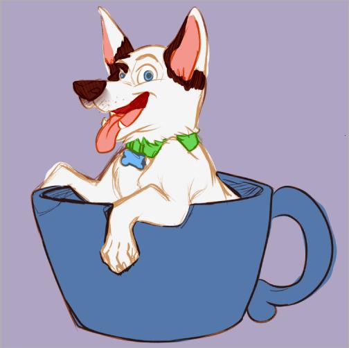 WIP Draft of The Mug Puppy