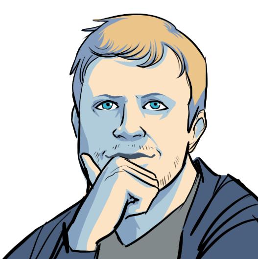 WIP Portrait of Dave Samuel by Liz Coshow via ArtCorgi