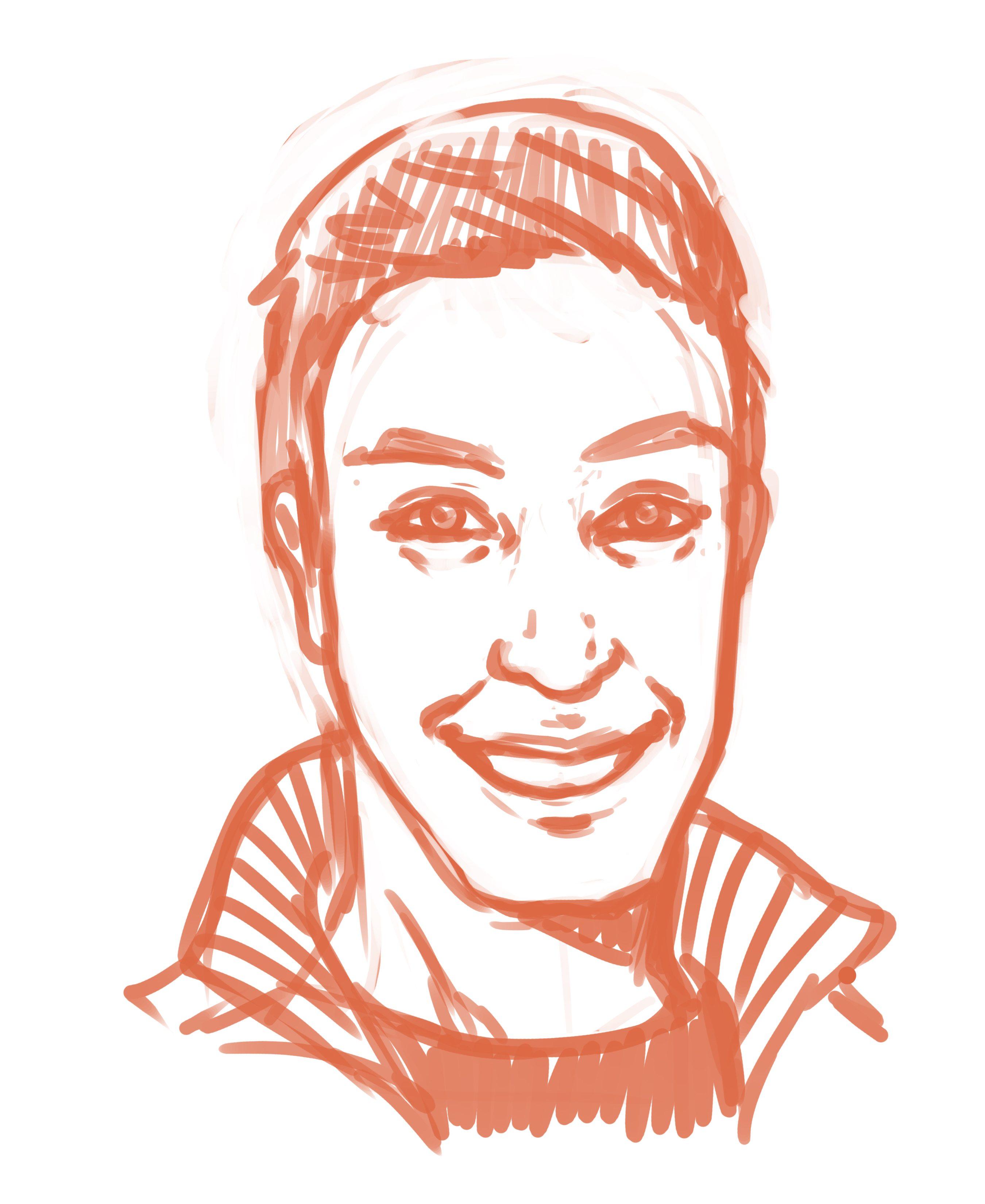 WIP Portrait of Ed Roman by Joseph Lee