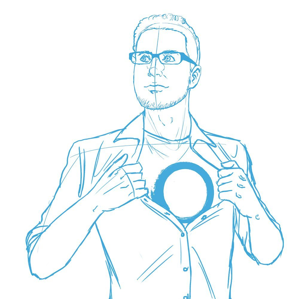 WIP Portrait of Eric Ries by Blacksmiley via ArtCorgi