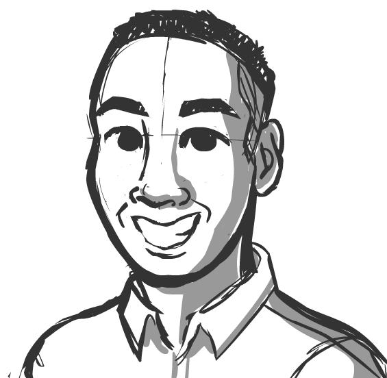 WIP Portrait of Tim Fong by Alyssa Erin